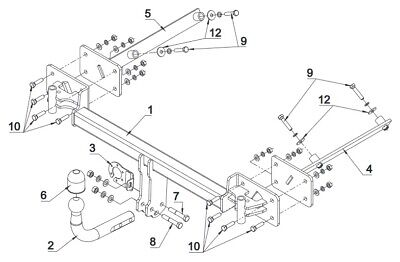 E-Satz AUTO-HAK BMW 3er E36 Compact 94-00 AHK Anhängerkupplung starr 13pol uni