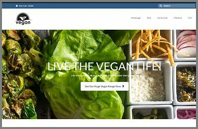 Fully Stocked Dropshipping Vegan Foods Website Store. 300 Hits A Day
