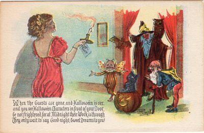 GOTTSCHALK DREYFUSS & DAVIS HALLOWEEN POSTCARD SERIES 5050, SIGNED BY ARTIST.](Davis Halloween)