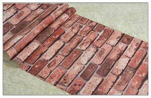 Project Wallpaper RUSTIC BRICK EFFECT WALLPAPER RED BRICK Bradbury Campbelltown Area Preview