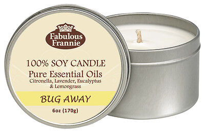 Bug Away 6oz All Natural Soy Candle With Pure Essential Oils