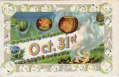GOTTSCHALK DREYFUSS & DAVIS HALLOWEEN SERIES #1028, JOLs HANGING ON CLOTHES LINE](Davis Halloween)