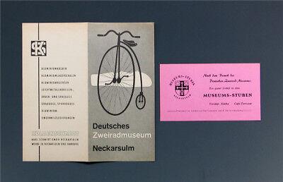 Faltprospekt ZWEIRADMUSEUM NECKARSULM um 1956