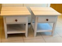 Pair of painted bedside tables. DELIVERY AVAILABLE