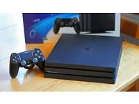Playstation PS4 Pro in box in immaculate condition plus games and controller etc
