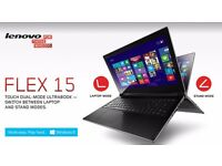 LENOVO FLEX 15/ TOUCHSCREEN/ INTEL i3 1.70 GHz/ 4 GB Ram/ 500 GB HDD/ HDMI - FREE DELIVERY