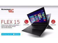 LENOVO FLEX 15/ TOUCHSCREEN/ INTEL i3 1.70 GHz/ 4 GB Ram/ 500 GB HDD/ HDMI / WEBCAM/ WIRELESS/ WIN10