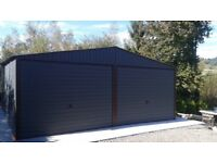 Attractive Steel Double Door Garage Many Sizes Available! Very Strong Construction!  Best Prices £157