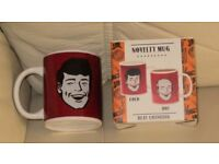 Brand new in box, MUG, novelty heat changing, fill and hair disappears,