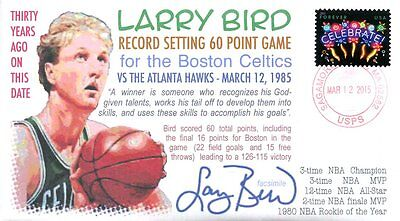 COVERSCAPE computer designed 30th anniversary Larry Bird 60 point game cover