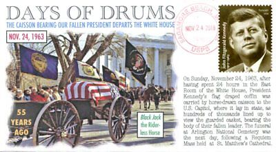 """COVERSCAPE computer designed 55th anniversary of JFK's """"Days of Drums"""" cover for sale  Shipping to India"""