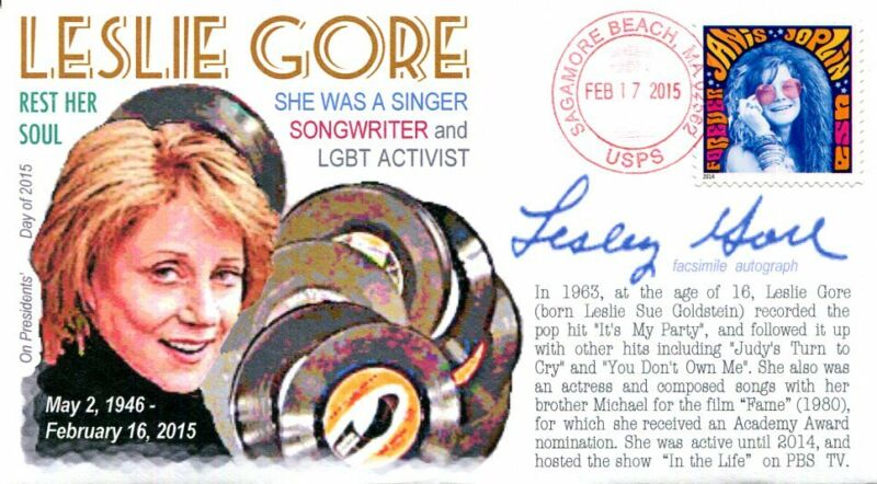 COVERSCAPE computer designed singer/songwriter Leslie Gore Memorial event cover