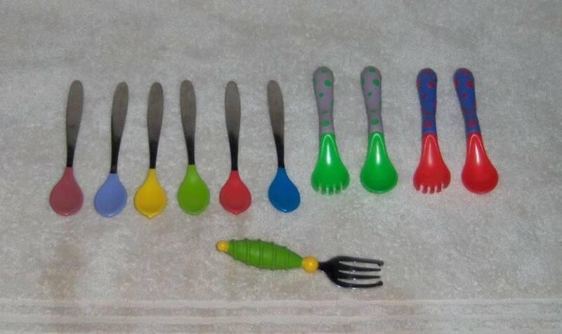 Baby Toddler Assorted Silverware Utensils Forks Spoons