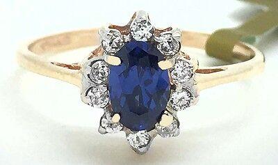 GENUINE 0.48 Carats TANZANITE & DIAMONDS RING 14K GOLD ** Brand New With Tag (Carats Genuine Tanzanite Ring)