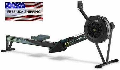 New Black Concept2 Model D Indoor Rowing Machine with PM5 Performance Monitor