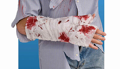 Bloody Arm Bandage Broken Wound Fancy Dress Up Halloween Adult Costume Accessory