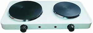 2500W HOT COOKING PLATE DOUBLE PORTABLE ELECTRIC COOKING HOB COOKER STOVE NEW