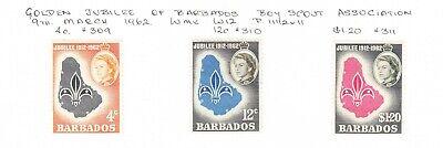 Barbados 1962 Boy Scout Jubilee set MH