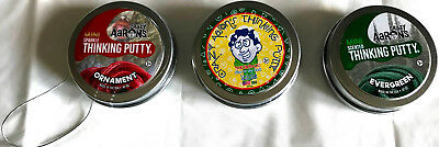 Icicle  Evergreeen   Ornament 3 Pack Christmas Crazy Aarons Thinking Putty
