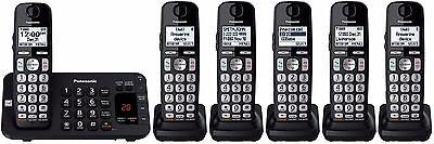 Panasonic KX-TGE445B + 1 KX-TGEA40B Handsets DECT 6.0 PLUS Cordless Phone System comprar usado  Enviando para Brazil