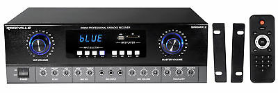 Used, Rockville SingMix 2 Rack Mount 2000w Karaoke Amplifier/Mic Mixer+Bluetooth/Echo for sale  Shipping to Canada