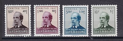 Luxemburg 1947 postfrisch MiNr. 427-430  Michel Lentz  Caritas