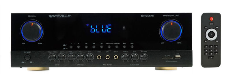 Rockville SingMix 5 2000w Home Theater Receiver w/ Bluetooth/Echo/Mic inputs