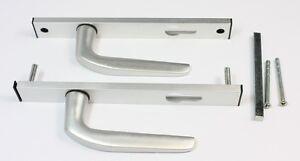 Union 90PZ Satin Silver Aluminium Door handles UPVC / Aluminium Doors 4247UA-AS