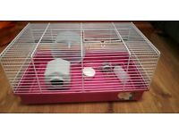 Pink Starter Hamster Cage