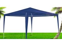 New Unopened 3x3m Garden Awning Gazebo Waterproof Marquee Party Wedding Canopy Blue