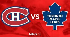 Canadiens de Montréal vs Maple Leafs de Toronto | Billets à partir de 25$