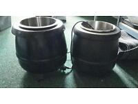 2x electric soup warmers excellent condition