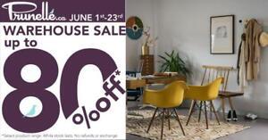 Vente D'entrepôt! Économisez jusqu'à 80% sur les Tables, Chaises, Canapés, Éclairage & Décor!