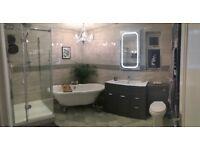 X10 boxes grey ceramic bathroom tiles