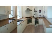 Kitchen for sale - good quality kitchen with all appliances and quartz work surface from end Sept