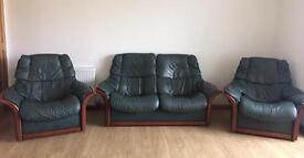 Stressless leather suite 2 seater plus 2 armchairs