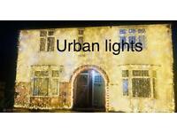 Wedding lights hire, outside house lights, Asian wedding lights, house lighting
