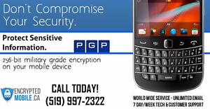 Blackberry PGP Email Encryption - 100% Secure and Encrypted - World Wide Coverage - Deal with the Leaders since 2004