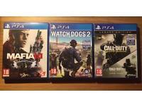 Infinite Warfare, Mafia 3 & Watch Dogs (PS4)