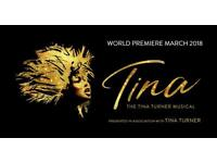 2 tickets for Tina Turner Musical Wednesday 28th March