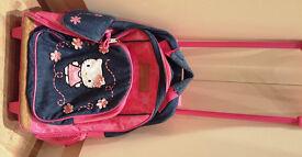 Girls Hello Kitty Rolling Children's Backpack