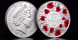 The 2015 Remembrance £5 Coin - Uncirculated