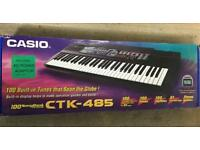 Casio CTK-485 stereo electronic keyboard boxed