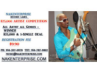 Record Label $25,000 Performing Artist Competition!