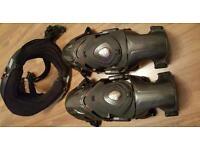 Motocross carbon fibre Knee brace Alpinstars and leatt neck brace
