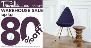 Prunelle - Warehouse Sale! Save up to 80% on tables, chairs, lighting, desks, couches, futons and decor!