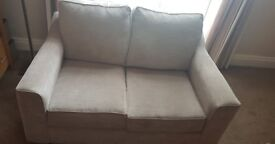 Harveys Connie 2 Seater Fabric Sofa Taupe EXC COND LIKE NEW