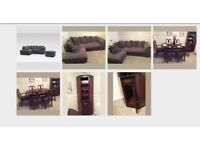 Job Lot 3 x Furniture's (Sofa+Dinning Table& Chairs + Living room Cabinet)