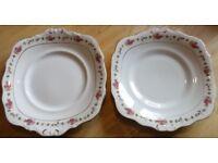 Pair Decorative Serving Plates Vintage 1940/50/60/70's Retro Rare!