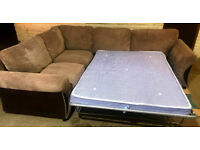 Large Corner Sofa-Bed Brown. Very good condition!